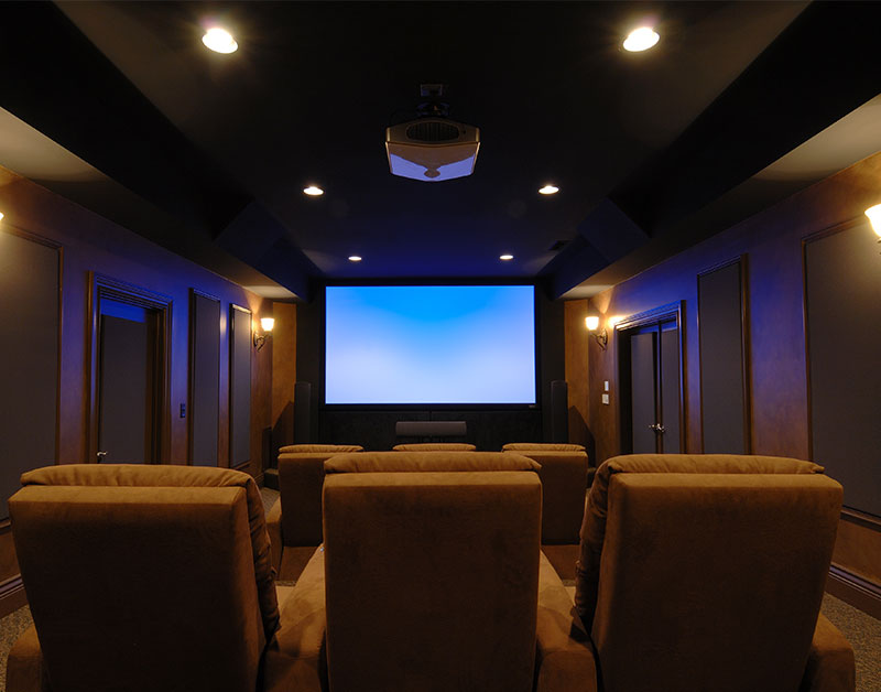 Luxury Home Theater Interior