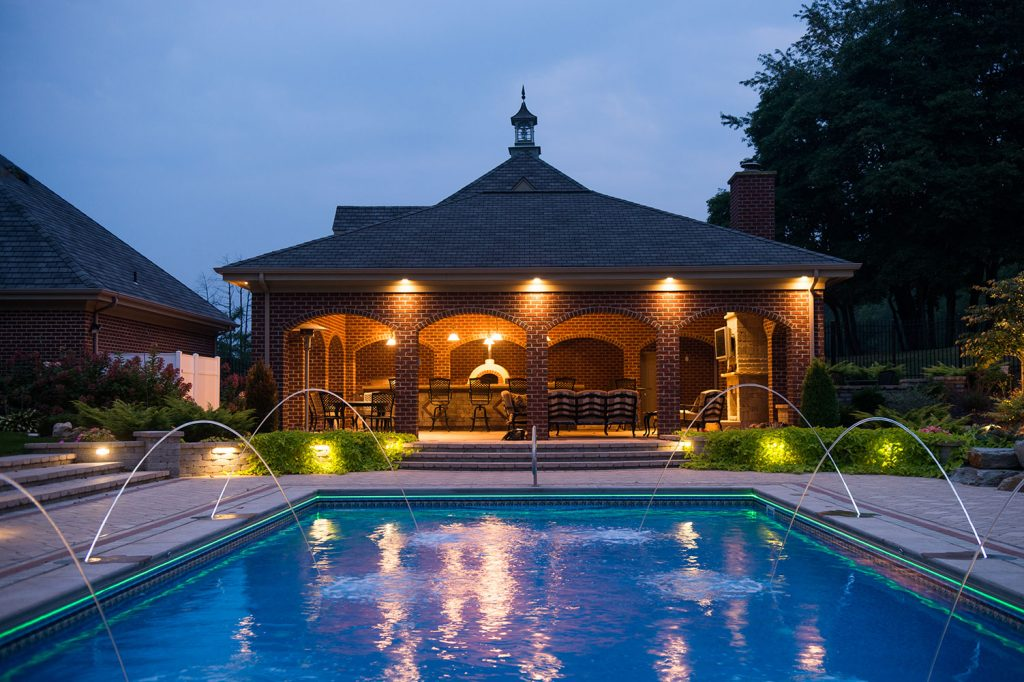 Custom Pool and Pavilion in Eighty Four
