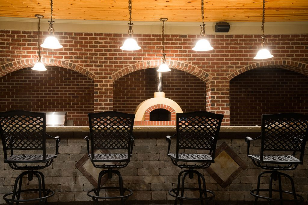 Outdoor Bar and Pizza Oven in Eighty Four