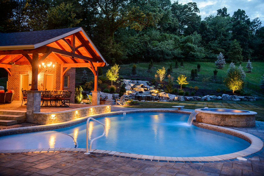 Pool and Pavilion in Gibsonia, PA