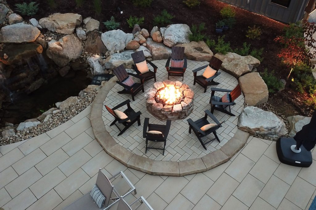 Custom Fire Pit with pavers