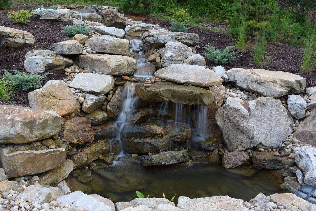Natural Waterfall Feature in Moon Township