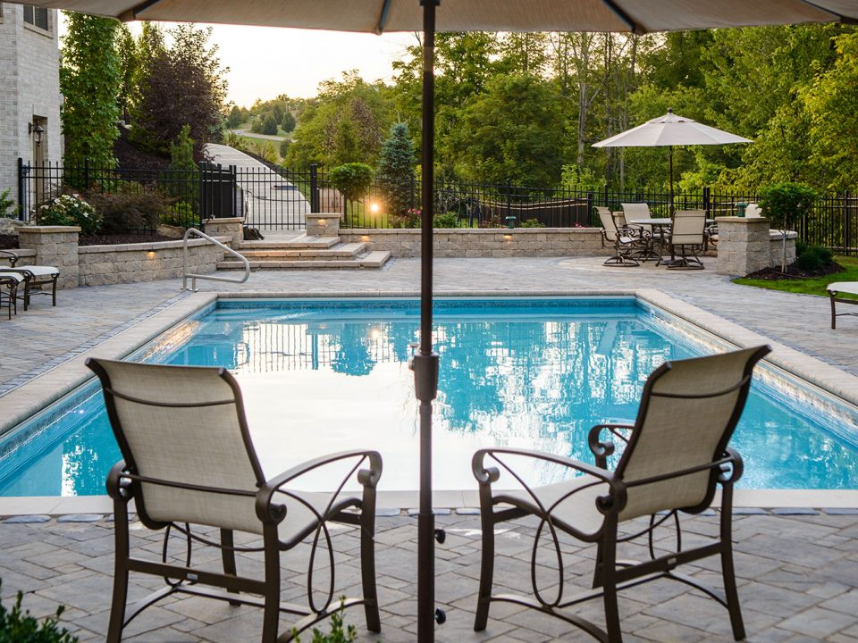 Peters Township Family Fun Style Pool and Outdoor Dining
