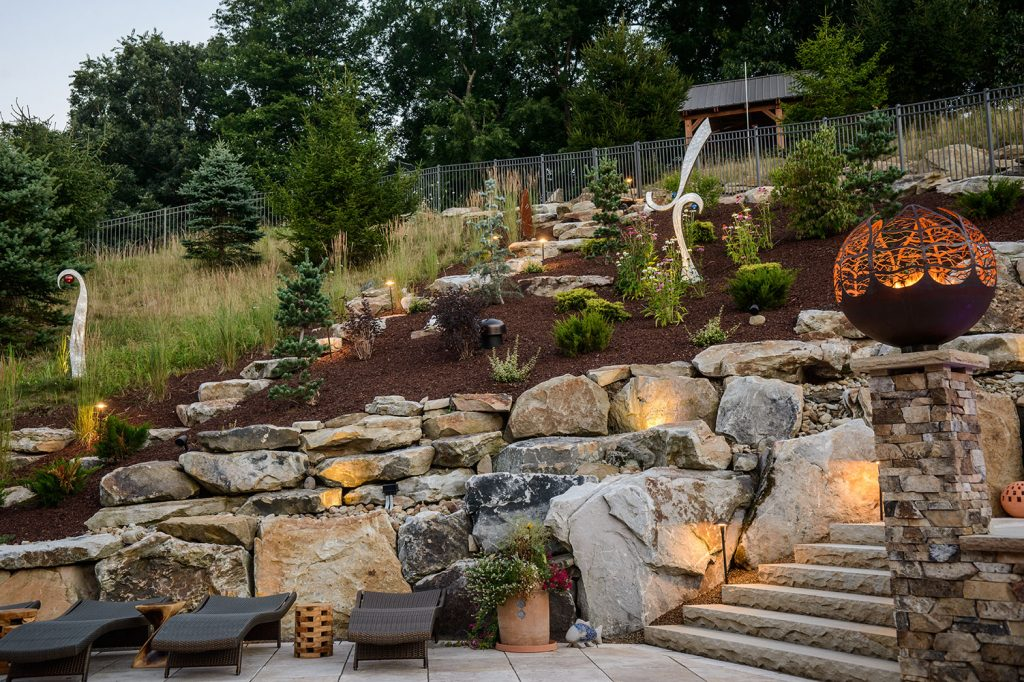Boulder and Landscaping in Gibsonia