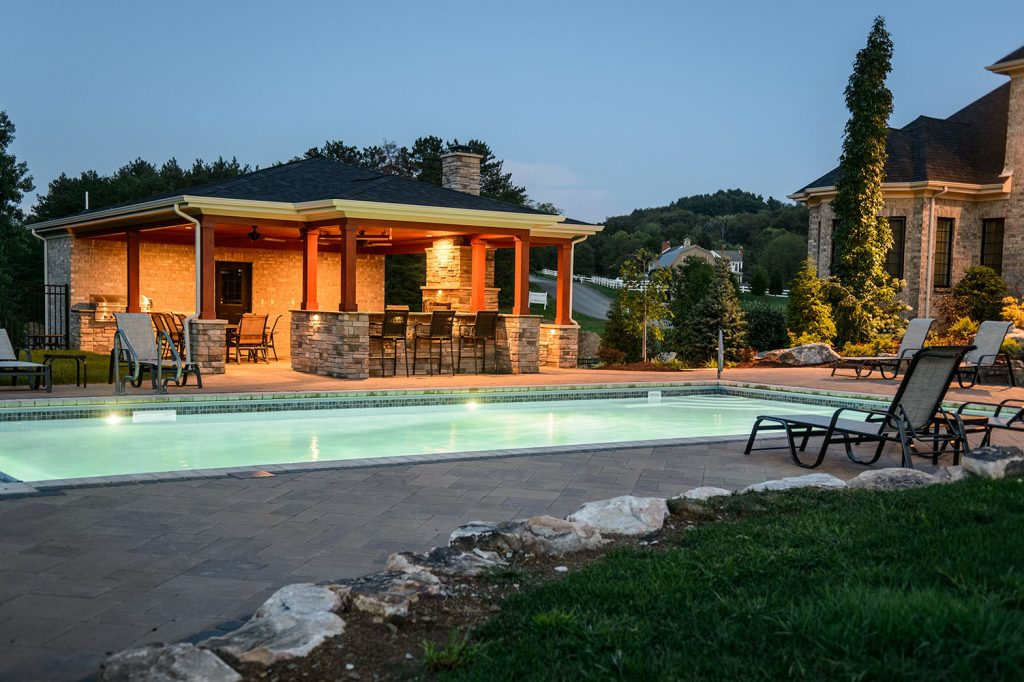 Inground Pool and Outdoor Kitchen