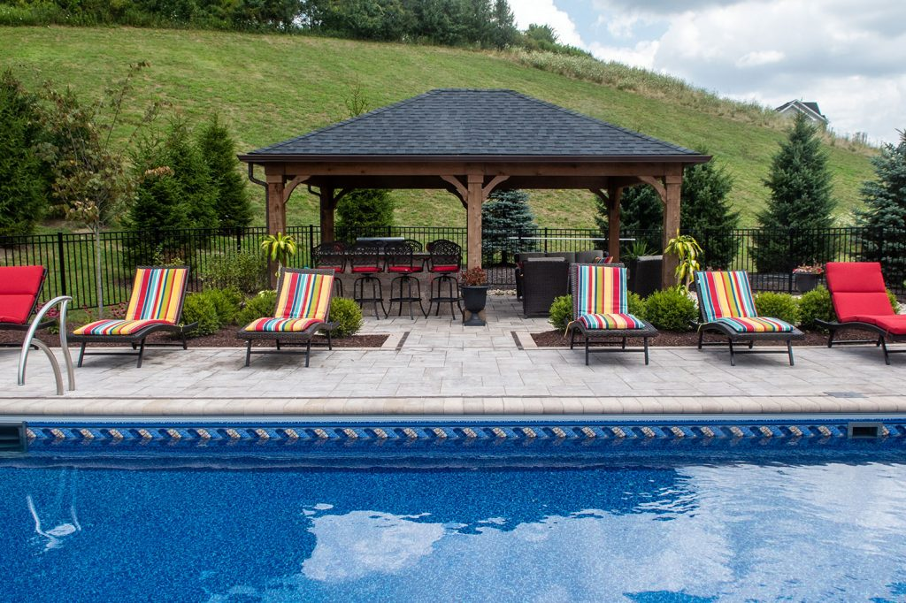 Inground Pool and Outdoor Living